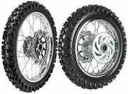 Front And Rear Tire Tube 60/100-14 80/100-12 Rim Disc Rotor Sprocket Set For Kx80