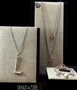 Uno De 50 Charm Bar Collection Silver Or Gold 36 Long Chains W/ Orig Pkging