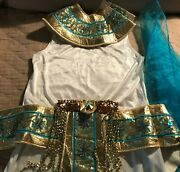 Cleopatra Roman Empire Egyptian Ladies Costume Outfit Toga Gown Goddess Belt Sm