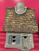"""Windy Meadows Pottery Medium Size - Gray House 6"""" - Removable Roof"""