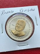 Ronald Reagan 40th President Gold Plated Coin Double Eagle