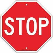 Stop Sign Street Slow Warning Reflective Signs 12 X Inches Octagon.040 Rust Uv