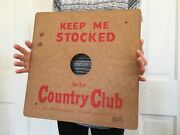 1940s 50s Goetz Country Club Beer Display Advertising Sign Can Bottle