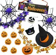 Halloween Decoration Garland And Ornaments For Party Total Set 15 Mix 1 L Set
