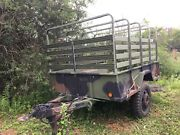 Us Army Cargo Trailer M-105a2 7and039 X 10and039 Excellent Condition