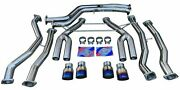 Full Exhaust System W/ Burnt Quad Tips Track Use For 2015+ M3 F80 M4 F82 F83 S55