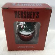 """Hershey's Fitz And Floyd Christmas Tree Ornament Chocolate Cupcake 2.5"""" New In Box"""