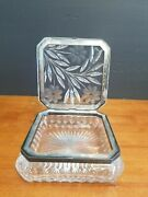 Antique American Brilliant Pairpoint Cut Glass Viscaria Hinged Jewel Box 6 3/4