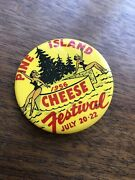 Vintage 1956 Cheese Festival Pinback Button Rare Pinups Wendell Nw Minnesota