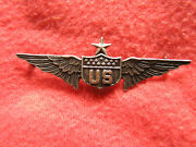 768. Wwi Full Size Master Us Military Aviatorand039s Badge In Sterling And Gold Pinbac