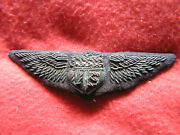 770. Wwi Full Size Thickly Padded Military Aviatorand039s Wing In Bullion With Corre