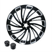 30 X 3.5and039and039 Front Wheel Rim Hub Dual Disc Fit For Harley Touring Road King 08-20