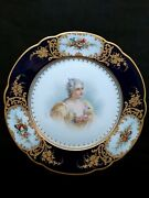 Antique Sevres France Double Luis Porcelain Hand Painted Dish 1700and039 Signed