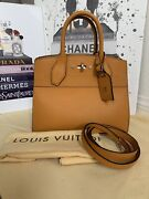Authentic Louis Vuitton Leather City Steamer Pm Satchel In Yellow