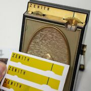 Zenith Royal 500h Transistor Radio Gold Dial Replacement Labels 4-up Improved