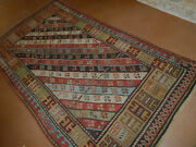 Antique Caucasian Rug Lovely Carpet 3and0398 X 6and0397and039and039 Ca.1880s Collectorand039s Piece