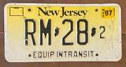 New Jersey 1997 Equipment In Transit License Plate Rm-28-2
