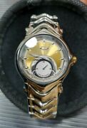 Jury Watch Gold Dial Ss Band Gmt Mm Doubletap Minute Machine Timebomb