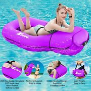Inflatable Pool Floats Lounger Chair Raft Swimming Toy Adult Kids Purple New