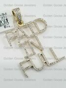 Sale 10k Yellow Gold Diamond Paid In Full Name Plate Initials Money Letter