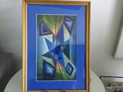 Listed Artist William Gear Watercolor On Paper