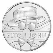 2020 Great Britain Music Legends Elton John Andpound5 Five Pound Coin Pack Sealed Clad