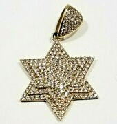 10k Gold 6 Point Tripple Stack Star Pendant Filled With Cz's 4 Grams