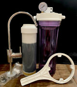 5-stage Undercounter Water Filtration Filter Sink Drinking System Clear W/gauge