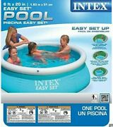 Intex 6ft X 20in Easy Set Inflatable Swimming Pool Summer Fun Sale New