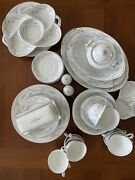 Lot 54 Pieces Vintage Valmont Royal Wheat China Dinnerware Plates Cups Bowl Tray