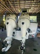 Twin Evinrude 225 Etec Outboards