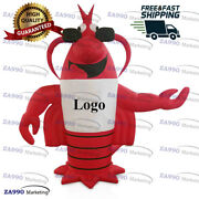 20ft Inflatable Advertising Lobster Fish And Seafood Restaurant With Air Blower