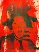 Mr Clever Art Trump Basquiat Red Painting Contemporary Pop Art Urban Abstract