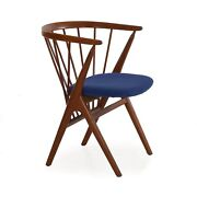 """Helge Sibast """"no. 8"""" Danish Mid Century Modern Spindle Back Arm Chair C. 1960s"""