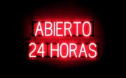Spellbrite Ultra-bright Abierto 24 Horas Neon-led Signneon Look,led Performance