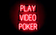 Spellbrite Ultra-bright Play Video Poker Led Sign Neon Look, Led Performance