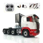 Metal 88 Chassis Lesu 1/14 Scania Rc Tractor Truck Painted Hercules Cabin Radio