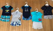 10 Piece Lot Of Carter's And Just One You Infant Boys Size 9 M Summer Clothes