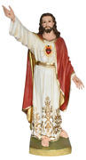 Sacred Heart Of Jesus Christ Catholic 48 Inch Colored Large Resin Statue