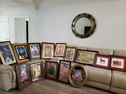 Vintage Rare Budweiser Framed Mirror Sign Pictures Collectibles