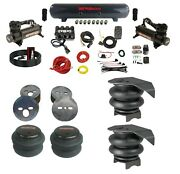 Complete Air Ride Suspension Kit For 88-98 Chevy C15 W/manifold Bags And 480 Black
