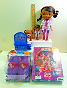 Disney Doc Mcstuffins Talking Doll, Findo, Light-up Shoes And Stuck On Stories.