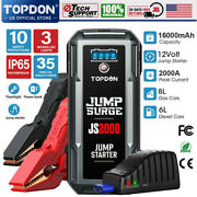 Portable V2000 Battery Booster Pack Charger Power Jump Starter Box Heavy Duty
