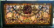 Great Victorian Plated Chunk Jewel Stained Glass Window