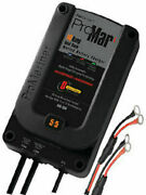 Pro Mariner Recreational On-board 2 Bank Marine Battery Charger 6and039 Cable 31410