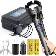 4-core Led Flashlight Power Bank Function Torch Usb Rechargeable Battery Zoom