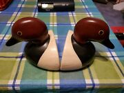 Gustin Duck Bookends Book End Hand Crafted Painted Decoy Usa