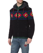 Polo Men's Fair Isle Hooded Sweater Holiday In Multi Size X-large