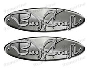 2 Bay Craft Remastered Stickers. Brushed Metal Style - 10 Long