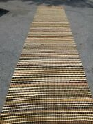 Runner Antique Hand-woven Rug 14and0393 X 41. Multi- Coloed. Perfect Cond. Dyrclean